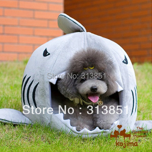 100047 Kojima Pet Product Plush Bed Dog Cushion Dog House Pet Bed Dog Bed Cat Bed Sofa Warm Shark Shape More Colors Cute 1PC(China (Mainland))