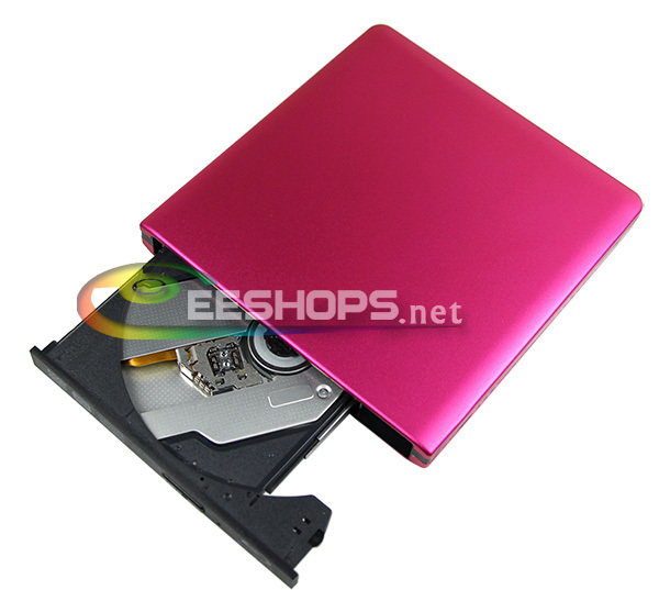 New for Panasonic UJ-260 Laptop Computer USB 3.0 External Blu-ray Recorder Double Layer 6X 3D 4X BDXL Writer Aluminum Pink Case(Hong Kong)