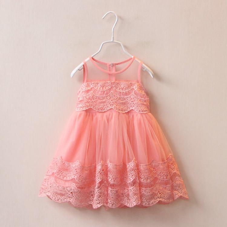 Kids Girls Crochet Lace Mesh Dresses Baby Girl Summer Hallow Out Dress 2016 Babies tutu Princess Dress Children's Clothing