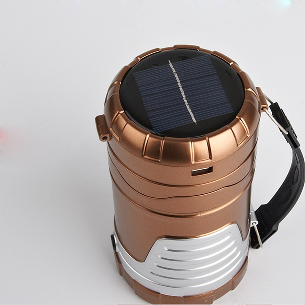 New Collapsible Portable Rechargeable Solar LED Lantern for Camping Cycling Hiking Emergency Hurricane Outage(China (Mainland))