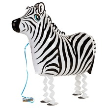 Hot Sale 5pcs Big Size Walking Zebra Foil Balloons/ Birthday Party Children Pets Animals Toys(China (Mainland))
