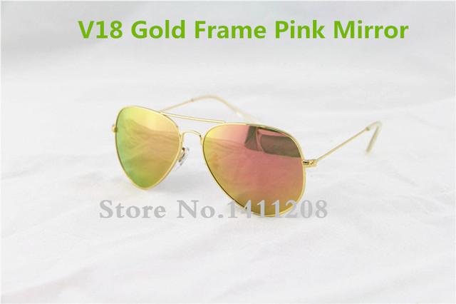Uv400 мода классический старинный металл розовый зеркало солнцезащитные очки 62 мм ...