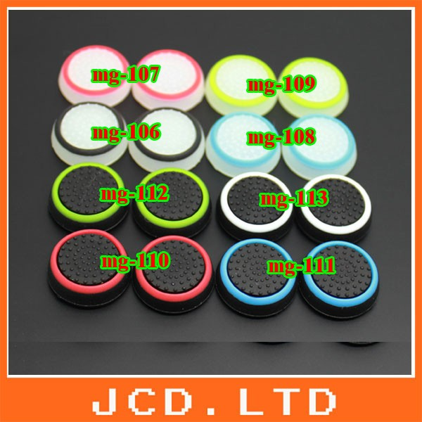 image for 32pcs/lot Silicone Colorful Cap Thumb Stick Joystick Grip For Sony PS4