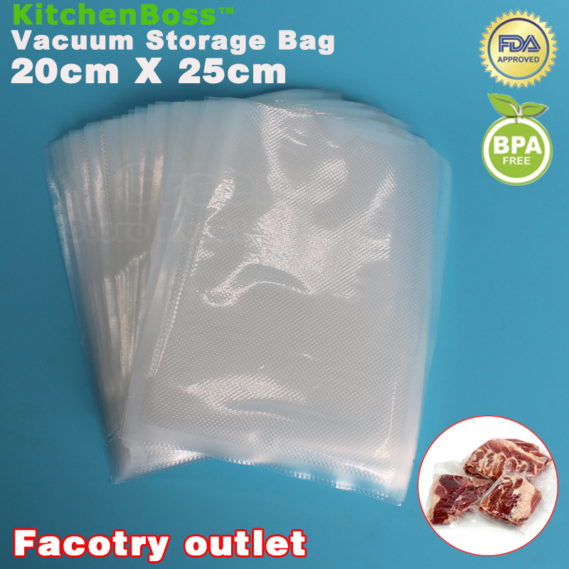 20cm x 25cm 50PCS Vacuum Heat Sealer Food Saver Bags Storage Bags Keeps Fresh up to 6x Longer(China (Mainland))
