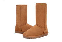 Fashion New snow boots Australia Classic Tall Bailey Button Snow Boots Women's Real Leather Winter Classic Short mini Shoes(China (Mainland))