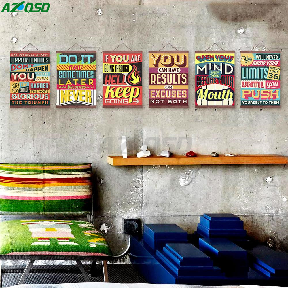 AZQSD Art Print Poster Motivational Typography Vintage Retro Inspiration Wall Picture Canvas Painting For Bar Decor PP060(China (Mainland))
