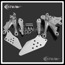 Buy Alloy Silver Front Rider Footrests Foot Pegs Rests Pedals & Tripod Brackets Mount ZX 10 R 2006 2007 2008 2009 2010 for $8.99 in AliExpress store