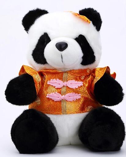 Plush Toy t 30cm panda wear Tang suit Chinese style toy plush nice gift stuffed animal(China (Mainland))