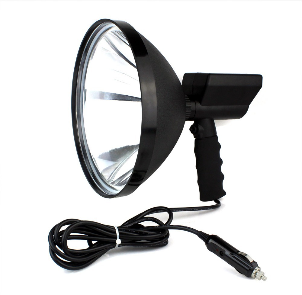hunting light 70W HID 9'' handheld spotlight headlamp for agriculture hiking hunting camping boating emergency lighting Q2017A(China (Mainland))