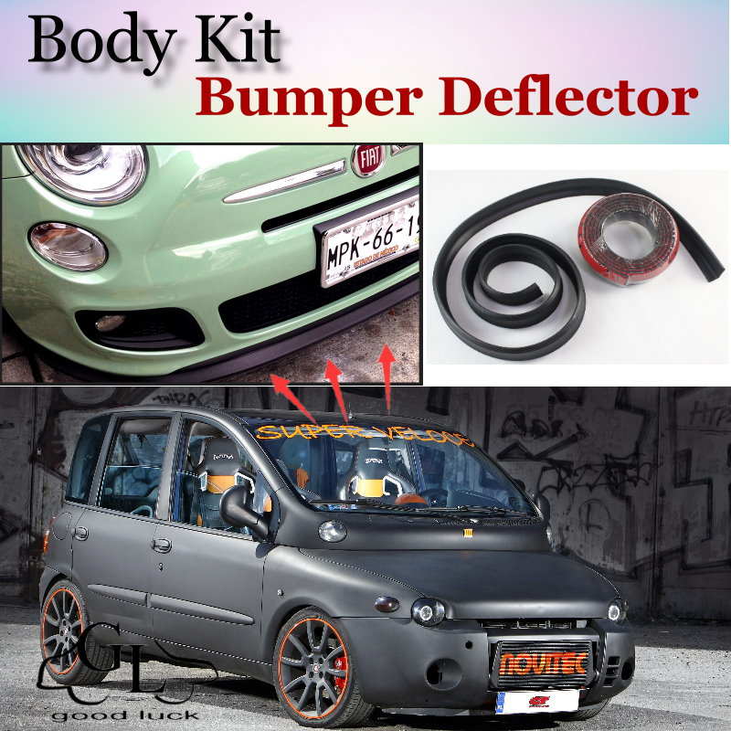Bumper Lip Deflector Lips For Fiat Multipla Front Spoiler Skirt For TG Friends to Tuning Car View / Body Kit / Strip<br><br>Aliexpress