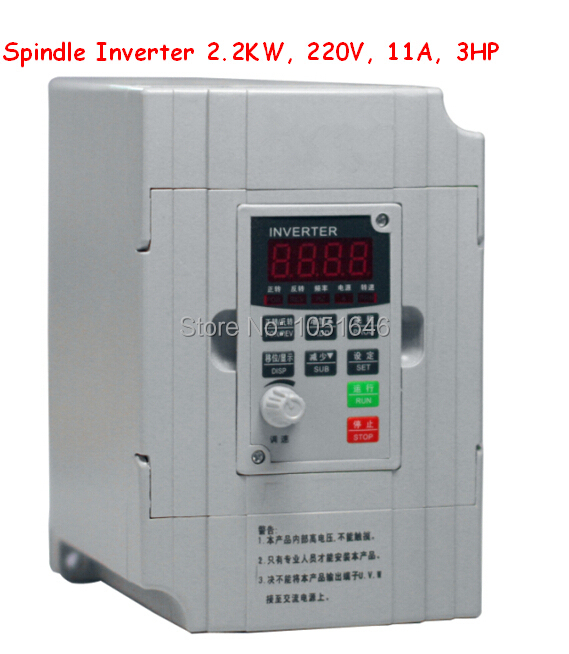 Buy free shipping spindle inverter 2 2kw for How to convert 3 phase motor to single phase 220v