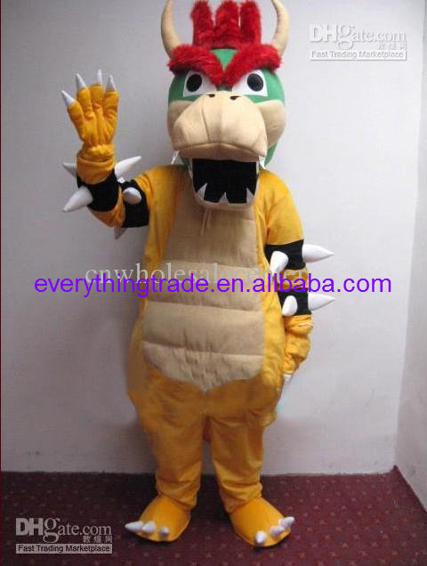 2014 Adult cartoon lovely Super Mario Bros King Bowser mascot costume fancy dress party adult size - Mascots store