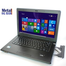 "14"" Game notebook DVD cpu Intel 1037U GPU metal Laptop Windows 10 / 7 8GB RAM 500GB hdd AZERTY Spanish Russian Keyboard red(China (Mainland))"