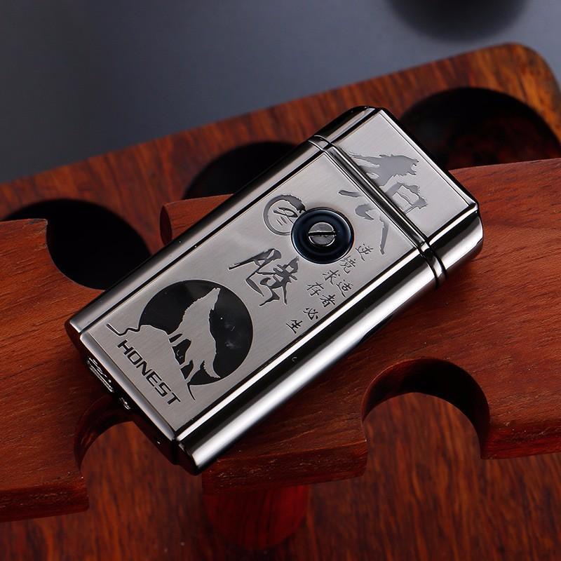 ถูก 6ชิ้น/ล็อตที่มีคุณภาพสูง2017 USB arcเบาisqueiroกับของขวัญกล่องสำหรับผู้ชายเบาควันเครื่องมือบุหรี่windproofเบาสำหรับคน