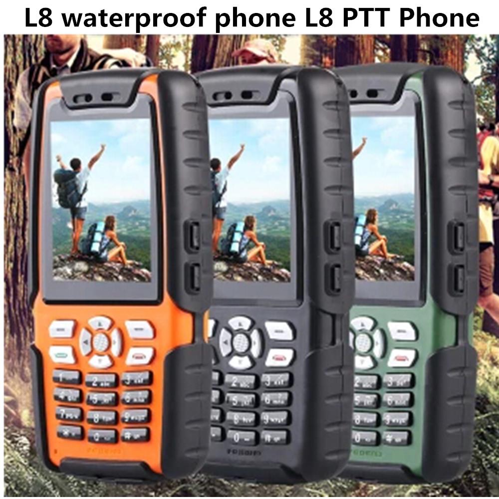 Real Waterproof L8 phone IP67 Shockproof Dustproof phone TV PPT Walkie Talkie Phone 3800mah big battery L9 A8i A11 A8S A8N B30(China (Mainland))