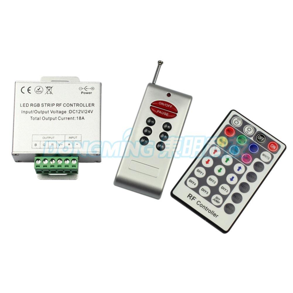 5Pcs DC 12V-24V Led Controller RF 18A 216W 28Key Led Strip Remote Control RGB Led Controller For RGB 5050 3528 LED Strip(China (Mainland))