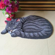 High quality handmade cat shape washable carpet for cat mat for cat art rug for cat(China (Mainland))