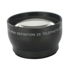 Buy Professional 52mm 2x Magnification Telephoto Lens Nikon D5100 D3200 D70 D40 Camera Digital Cameras for $12.51 in AliExpress store