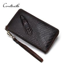 Retro Luxury Mens' Vintage Genuine Leather Clutch Bag Men Business Clutch Wallet Brand Design Passport Holder Travel Wallets