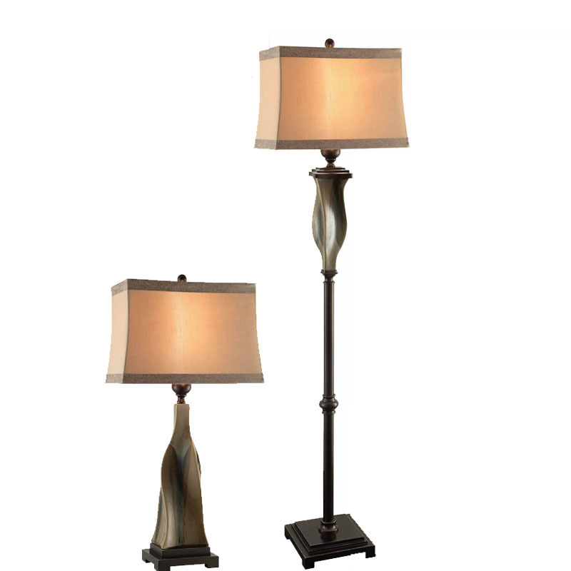 ree shipping bedding room decorative table lamp light / living room desk lighting/Antique finish(China (Mainland))