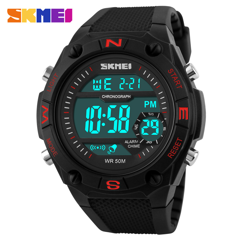 SKMEI Men Sport Watches LED Display Digital Watch Relogio Masculino Relojes Hombre Montre Homme Military Waterproof Wristwatches<br><br>Aliexpress
