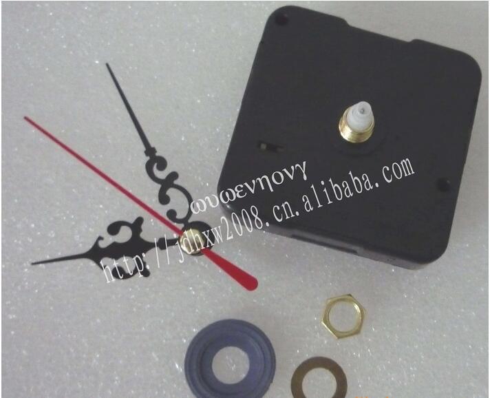10 sets Vintage Professional Quartz Clock Mechanism Movement Repair Replacing Part Kit DIY Tool Mute red Black Hollow Hands(China (Mainland))