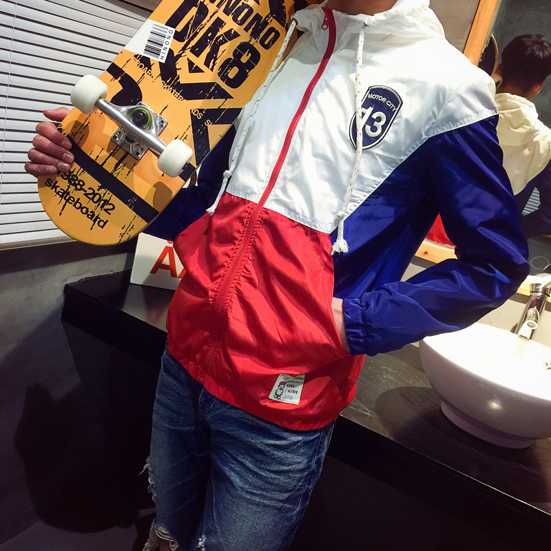 2015 new fashion jacket spring coat men men clothes sport jacket men hip hop jacket Tide jaquetas masculinas 2 colors(China (Mainland))