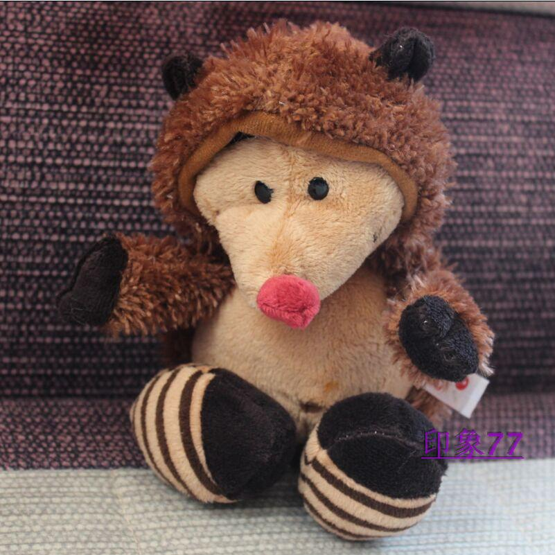 NICI plush toy stuffed doll cute soft Red nose hedgehog Heterothermic 1pc bedtime story Christmas birthday gift free shipping(China (Mainland))