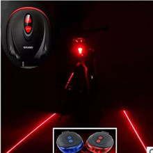 1piece (3LED+2Laser) Bicycle Mountain Road Bike Bicycle Light Laser Tail Light Cycling Safety Warning Rear Lamp Light