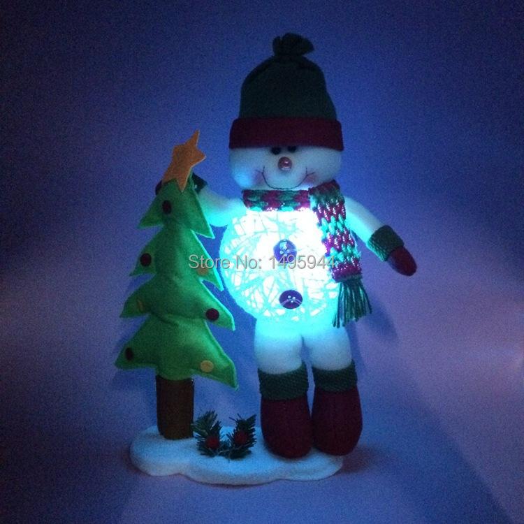 Hot Christmas Items Christmas scene decorated Christmas tree ornaments snowman Christmas decoration(China (Mainland))