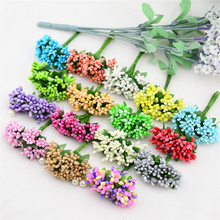 12PCS / lot 2 cm artificial plastic flower party supplies wedding car decoration manual simulation flowers