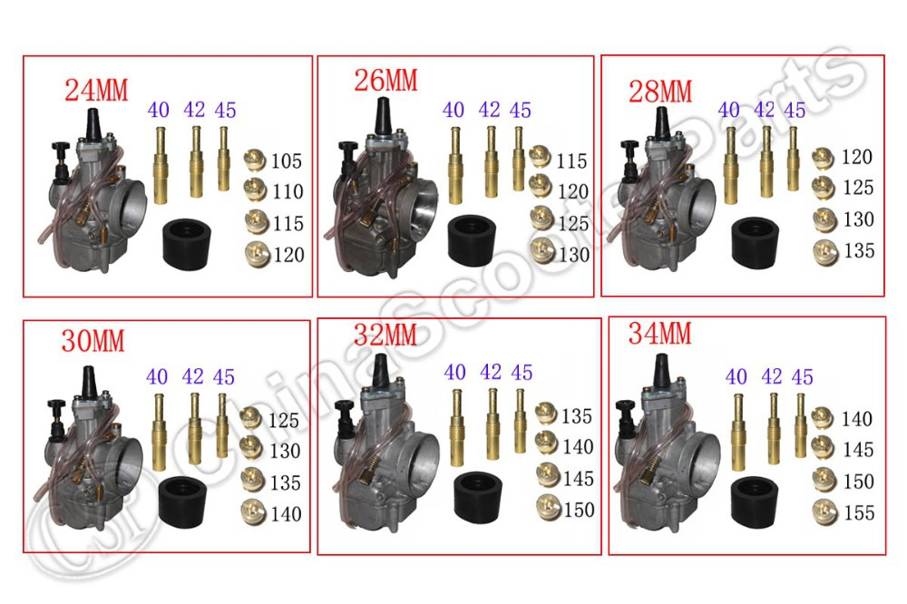 KOSO Keihin OKO PWK Carburetor Carb Main Pilot Jets Kit 24mm 26mm 28mm 30mm 32mm 34mm RTL250 CR80 CR85R CR125 ATV Buggy(China (Mainland))