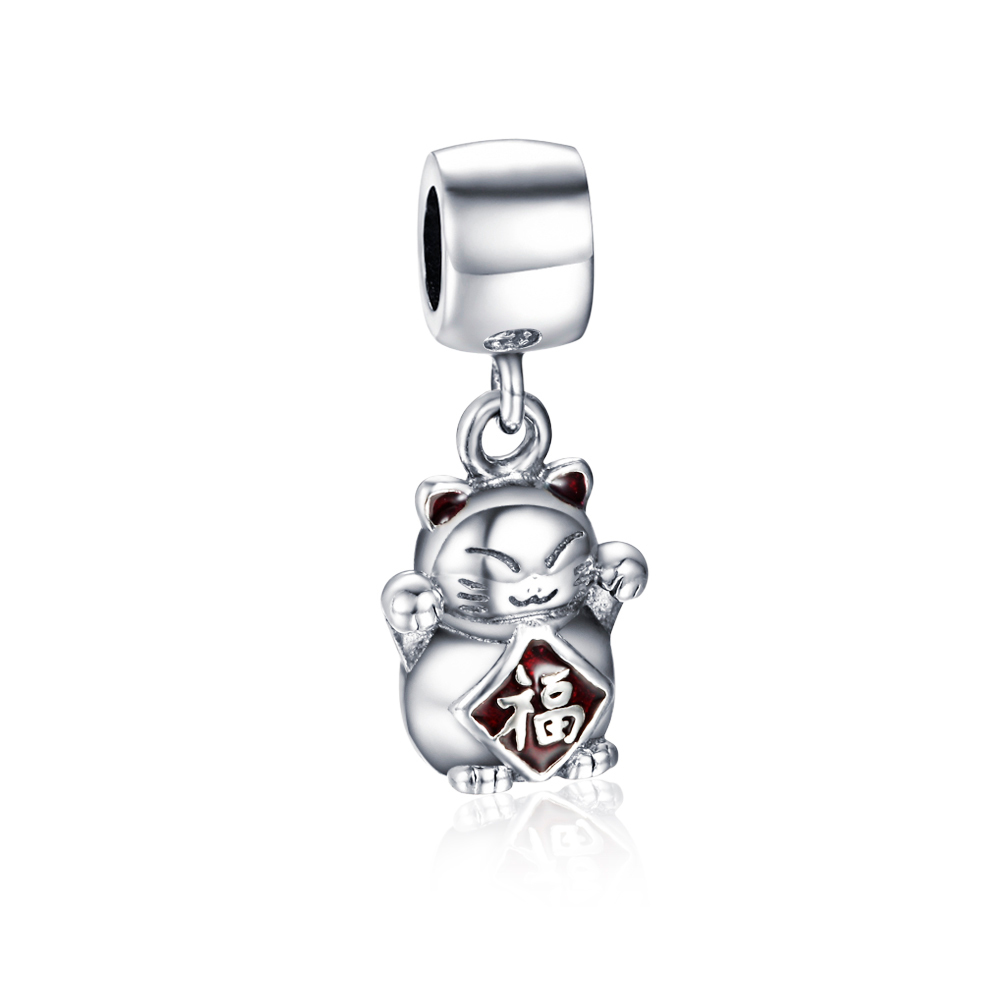 925 sterling silver soufeel lucky cat pandent fit