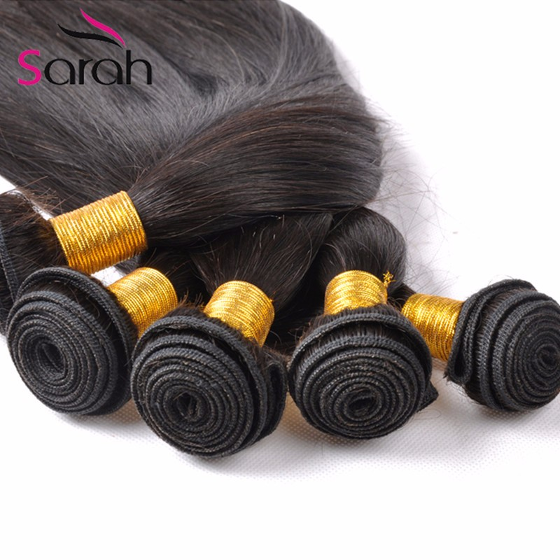 Queen Hair 4pcs/lot Malaysian Straight Hair Extention 8A Unprocessed Virgin Malaysian Hair Bundles Natural Black Grace Company