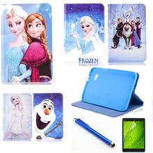 3in1 Luxury fashion cartoon child cover case for Samsung Galaxy Tab2 7.0 P3100 P3110 P6200 P6210 Cute Animation case