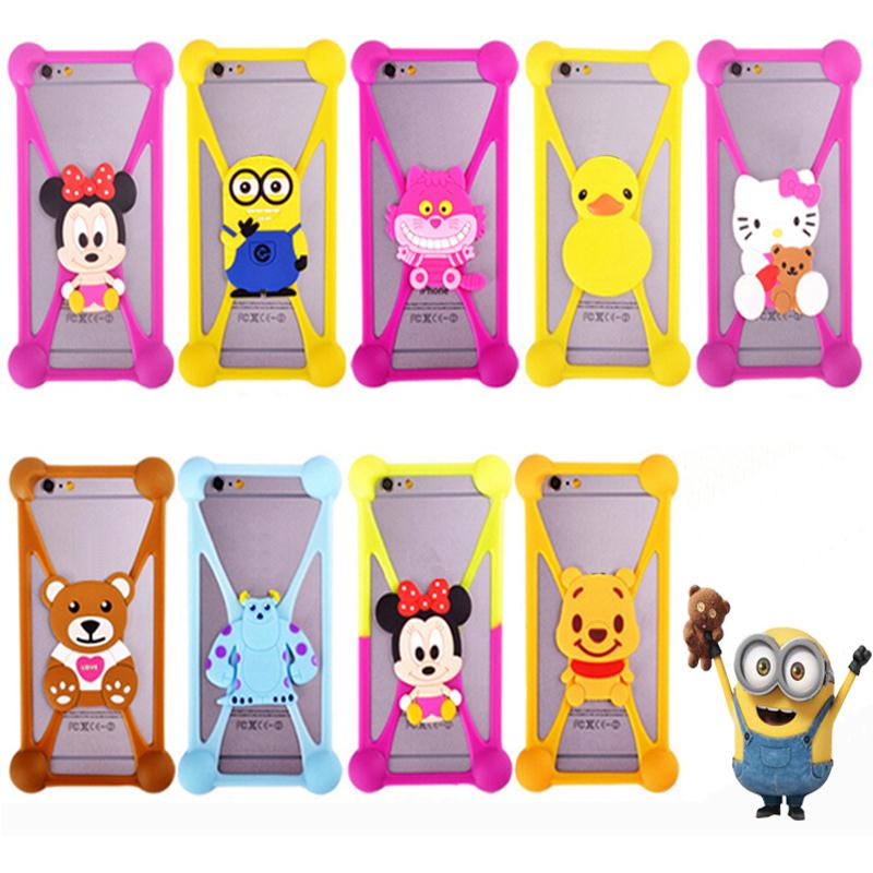 Hot 3D Cute Cartoon Soft Silicone Cover Bumper For Sony Z1 Z2 Z3 For LG G2 G3 For HTC M7 M8 M9 For Xiaomi For Nokia For Huawei(China (Mainland))