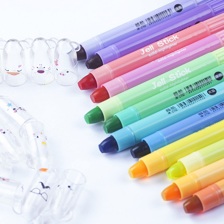 Jinbao Wen Han cool cartoon risk with wholesale solid color focus highlighter marker 12 candy color pen graffiti<br><br>Aliexpress