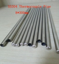 Customized 8*300mm Grade A Quality SS304 One End Closed Stainless Steel Pipes Thermocouple Protection Tube 20 pcs / lot(China (Mainland))