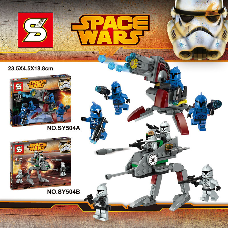 NEW Star Wars Clone Wars 2box\set Spaceship Minifigures Building Blocks Sets toys compatible legoelieds Star Wars block figures