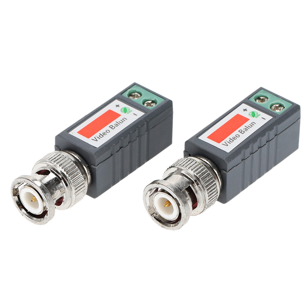 CCTV Video Balun Passive Transceivers 2000ft Distance UTP Balun BNC Cable Cat5 CCTV UTP Video Balun 1 Pair(China (Mainland))
