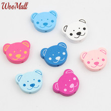 Buy New Bear Wooden Beads 30Pcs Wood Findings Baby DIY Crafts Kids Toys Teething Necklace Pacifier Clip Spacer Beading Bead for $1.91 in AliExpress store