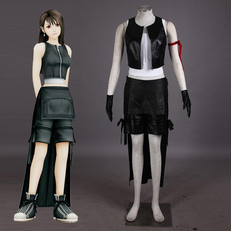 Japanese Video Game PSP Final Fantasy 7 Tifa Lockhart Cosplay Costume fantasia  Halloween costumes for women Plus Size CustomОдежда и ак�е��уары<br><br><br>Aliexpress