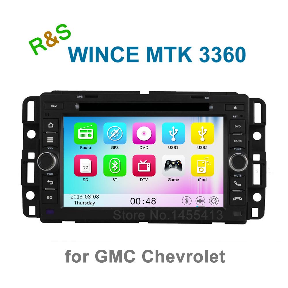 Car DVD Player Radio for GMC Yukon Chevrolet Sierra Ailverado Silverado Chevy Tahoe Buick Enclave with BT GPS support 3G WiFi(China (Mainland))