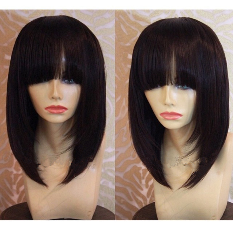 Rihanna human hair short cut 10inch None bob lace wigs with bangs front lace wigs glueless full lace wigs with natural hairline<br><br>Aliexpress