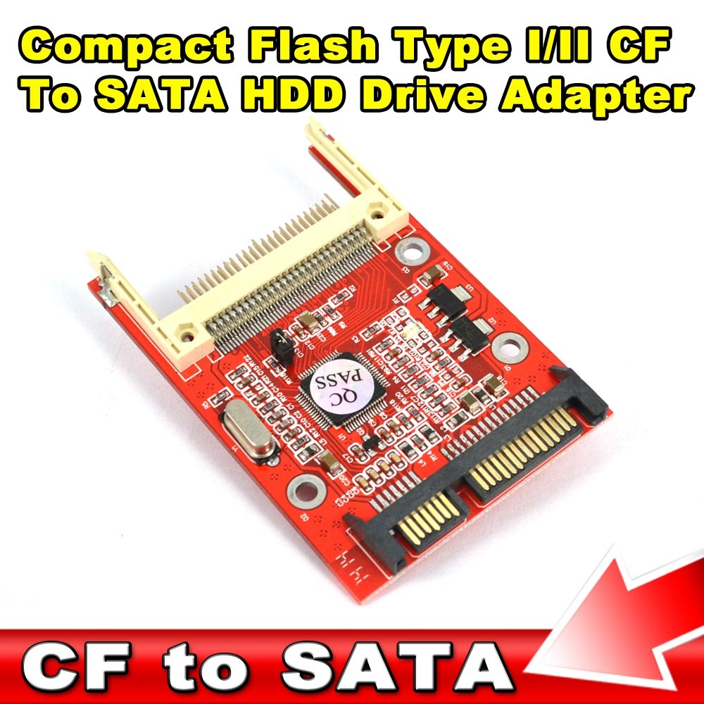 2016 New Arrival CF To Sata Adapter Converter CF Compact Flash Merory I & II Card ATA HDD Hard Disk Card Wholesale(China (Mainland))
