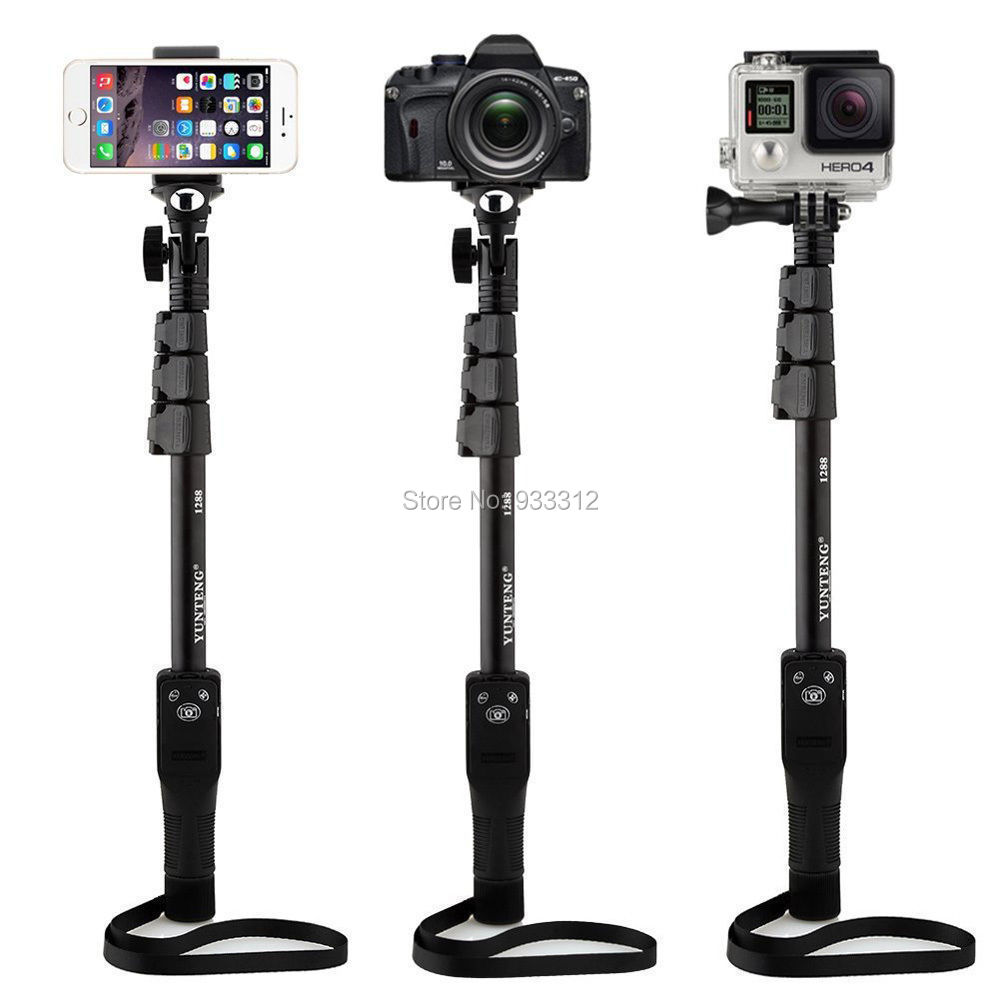 luetooth Remote Shutter Extendable Selfie Stick Monopod For iPhone
