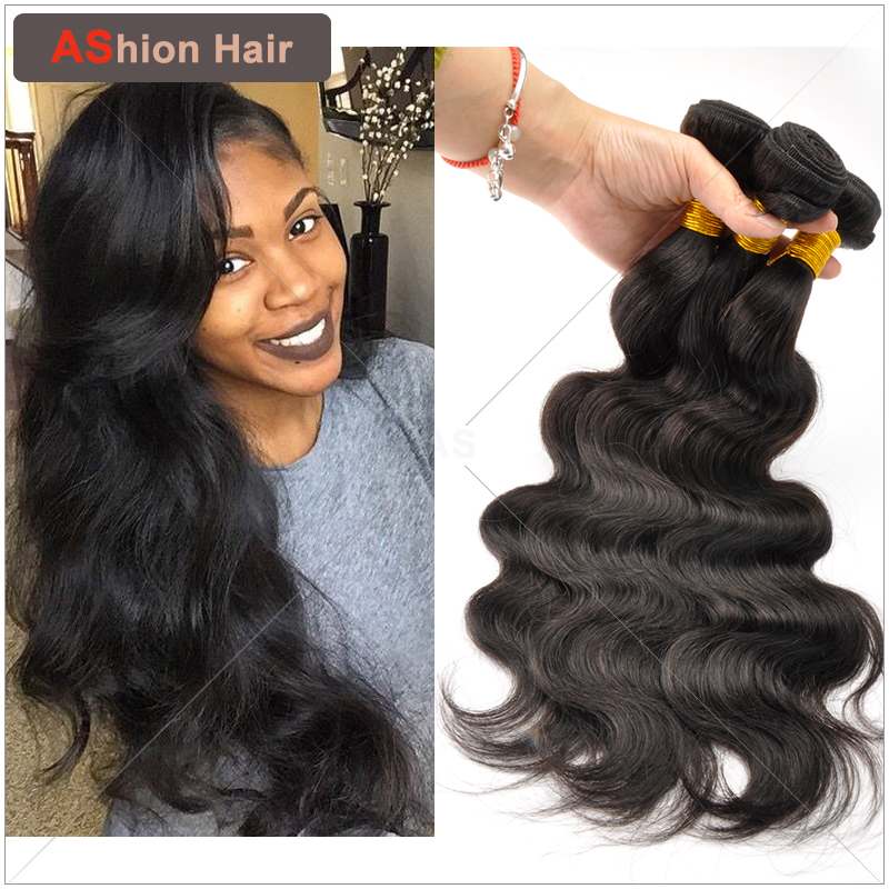 Ashion Super Deal Brazilian Virgin Hair Body Wave 3 Bundles Natural Wavy Brazilian Body Wave Hair Weaves Virgin Brazilian Hair(China (Mainland))