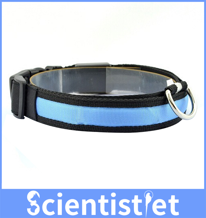 Scientistpet Flashing Safty LED Dog Collar for Large Medium Small Dogs Cats(China (Mainland))