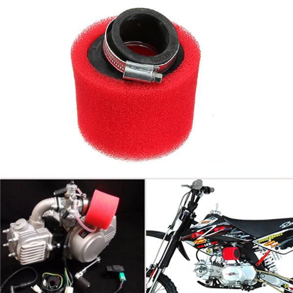 38mm ATV PIT DIRT BIKE 45 Degree ANGLED FOAM Air Filter Pod Cleaner 110cc 125cc RED CRF50 XR50 CRF(China (Mainland))
