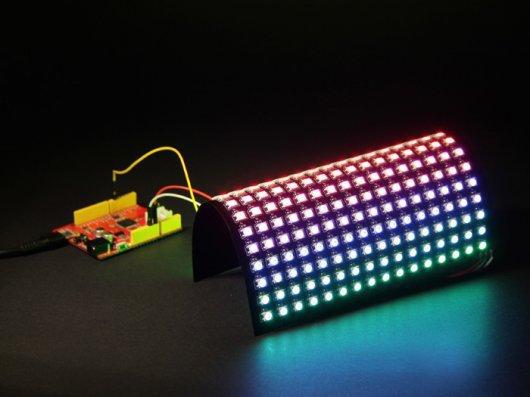 16х16 RGB светодиодная Матрица W/ WS2812B - постоянный ток напряжением 5В 100мм Длина кабеля 104990127